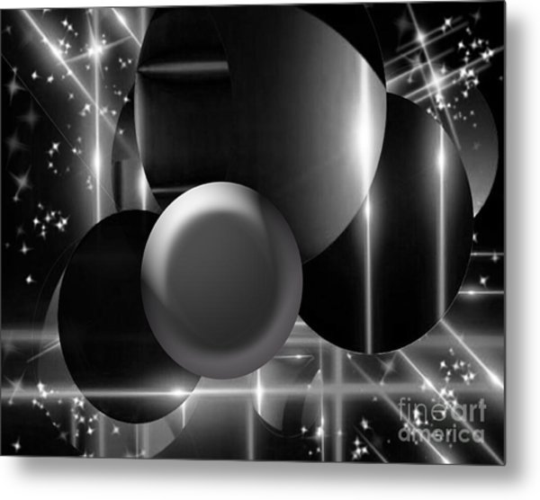 Black And White Glory Metal Print
