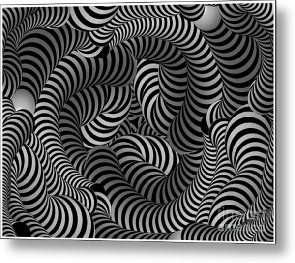 Black And White Illusion Metal Print