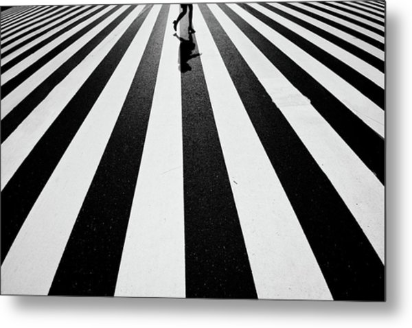 Black And White Metal Print by Kouji Tomihisa