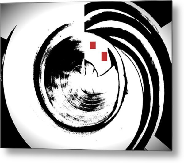 Black And White Movement Metal Print