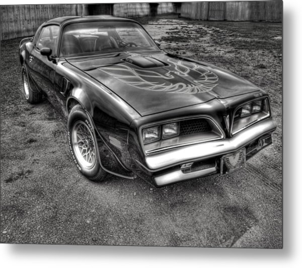Black And White Trans Am Metal Print