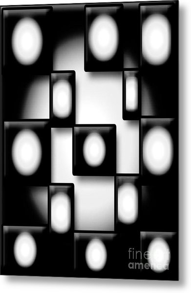 Black And White Unite  Metal Print