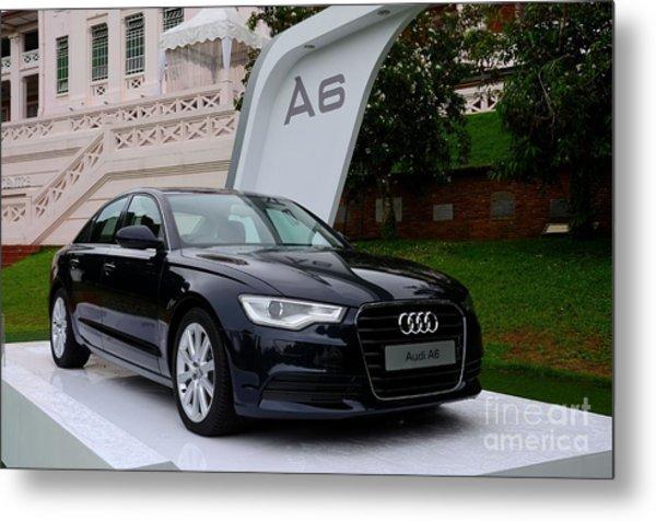 Black Audi A6 Classic Saloon Car Metal Print