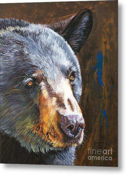 Black Bear The Messenger Metal Print