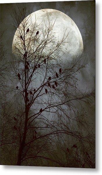 Black Birds Singing In The Dead Of Night Metal Print