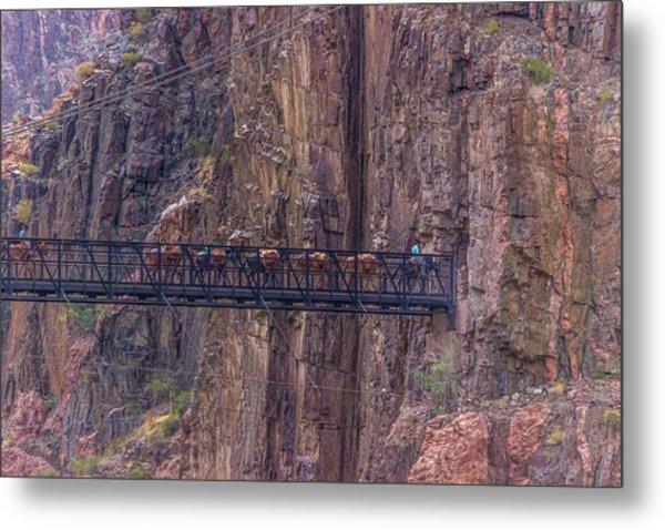 Black Bridge In The Grand Canyon Metal Print