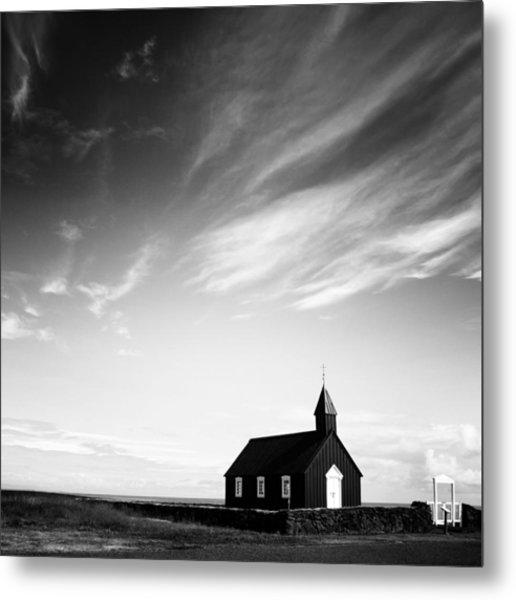Black Church Metal Print by Nina Papiorek