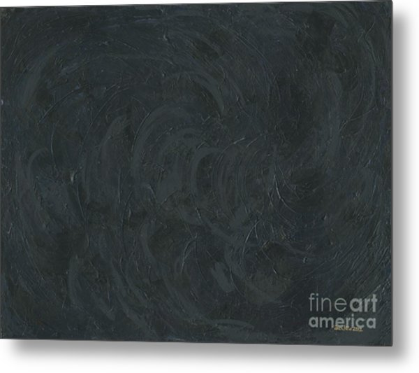 Black Color Of Energy Metal Print
