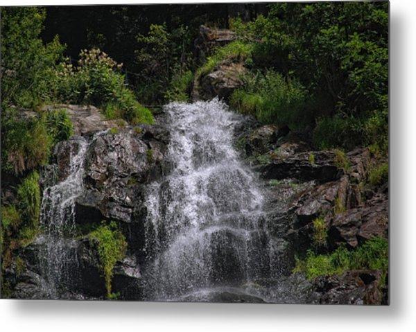 Black Forest Waterfall Metal Print