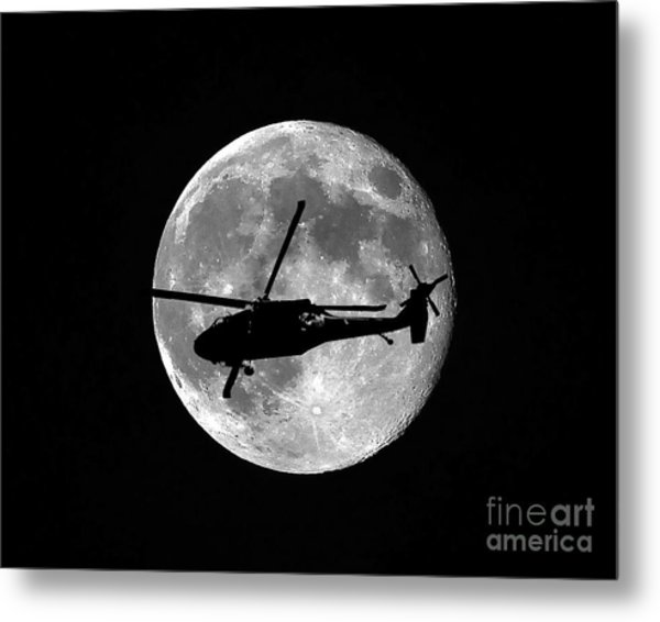 Black Hawk Moon Metal Print