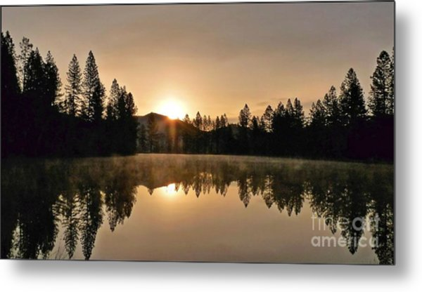 Black Lace Sunrise Metal Print
