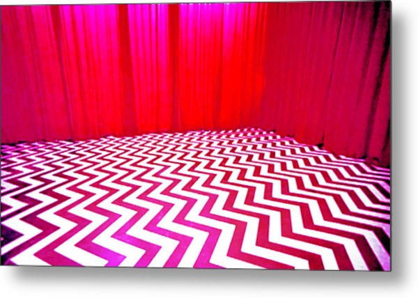 Black Lodge Magenta Metal Print