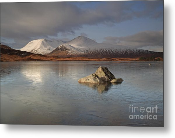 Black Mount And Lochan Na H-achlaise Metal Print