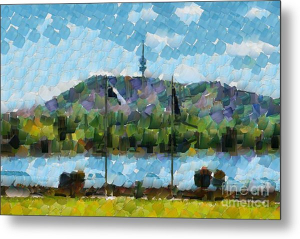 Black Mountain View Metal Print