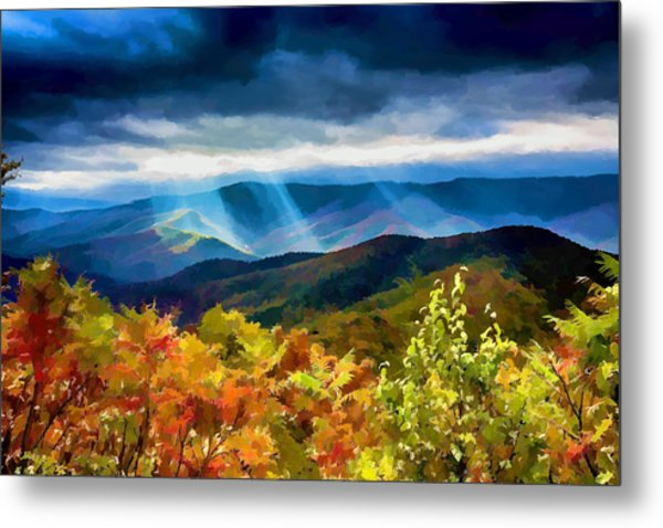 Black Mountains Overlook On The Blue Ridge Parkway Metal Print