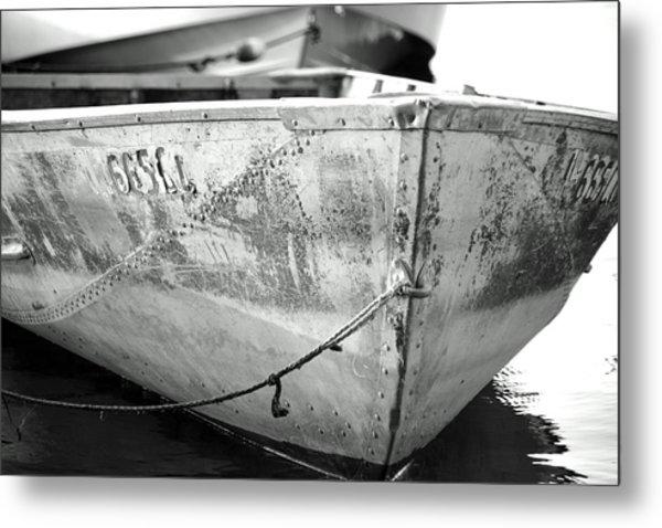 Black N White Row Boat Metal Print by Thomas Fouch
