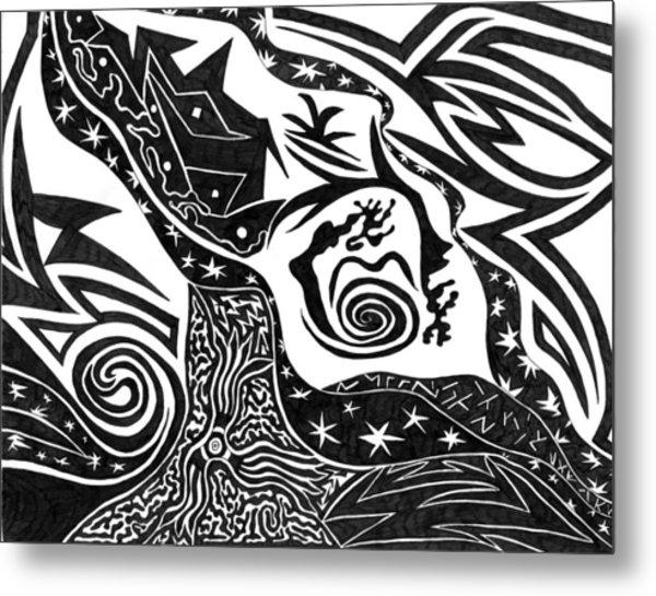 Black Night Metal Print by Kerri White