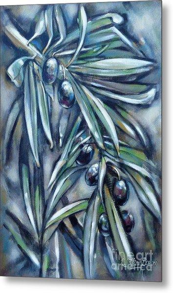 Black Olive Branch 200210 Metal Print