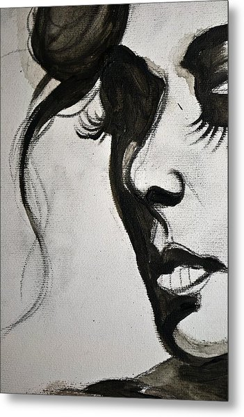 Black Portrait 16 Metal Print