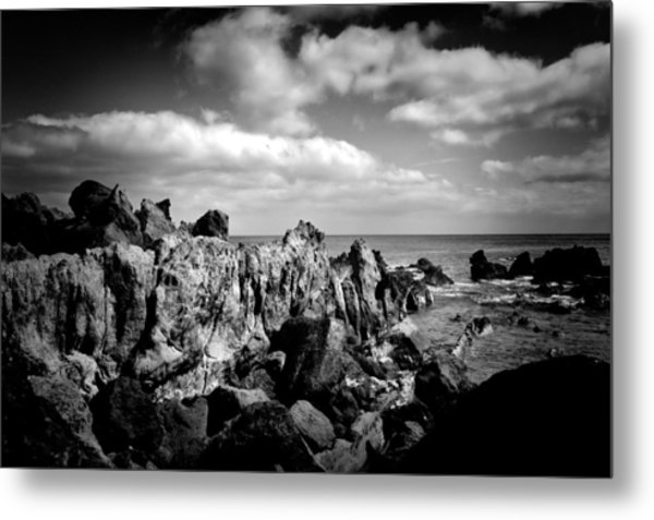 Black Rocks 3 Metal Print