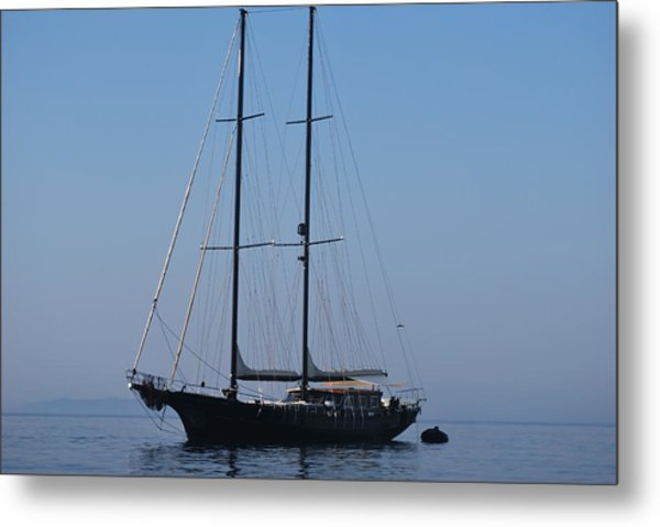 Black Ship Metal Print