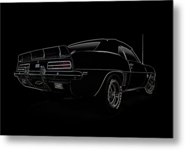 Black Ss Line Art Metal Print