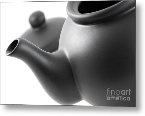 Black Teapot Metal Print