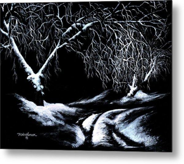 Winter Lace Metal Print