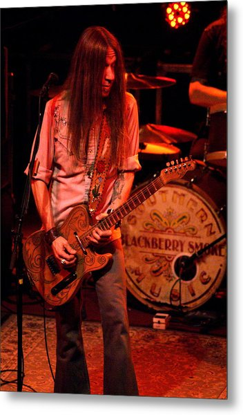Blackberry Smoke Guitarist Charlie Starr Metal Print