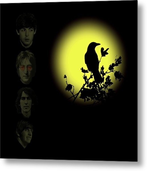 Blackbird Singing In The Dead Of Night Metal Print