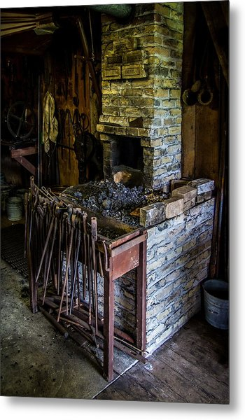 Blacksmiths Forge Metal Print