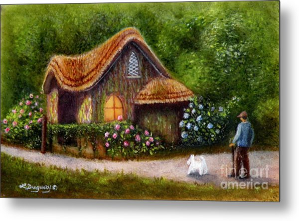 Blaise Rustic Cottage Metal Print