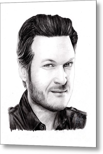 Blake Shelton Metal Print by Rosalinda Markle