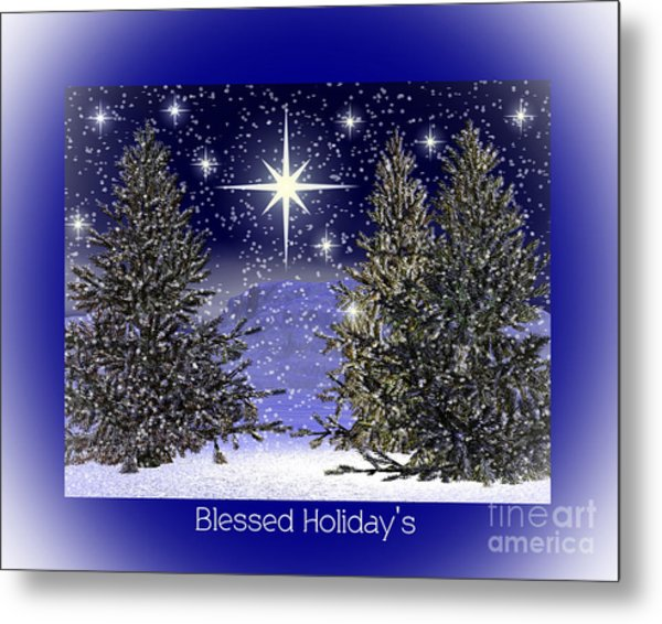 Blessed Holidays Metal Print