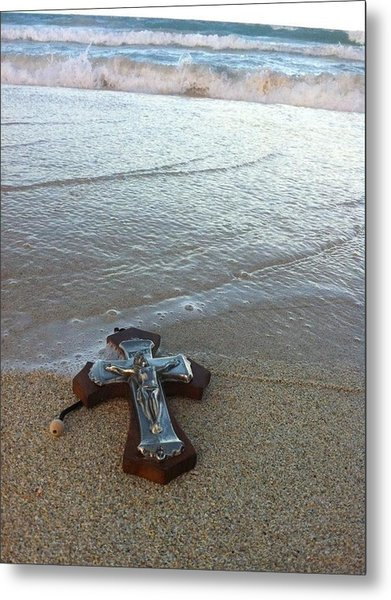 Blessing In The Sand Metal Print