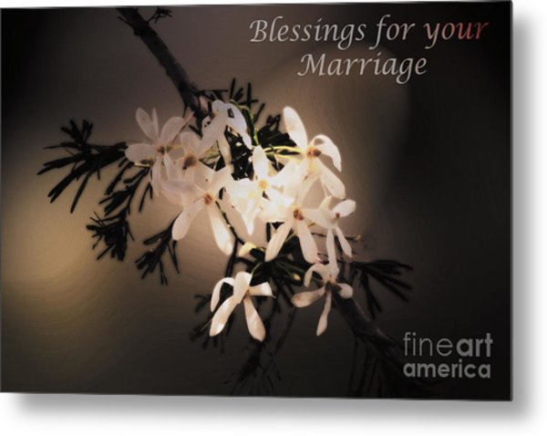 Blessings For Your Marriage Metal Print