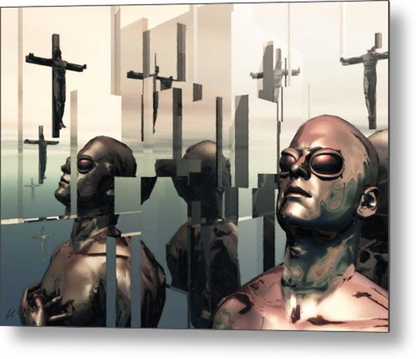 Blind Reflections Metal Print