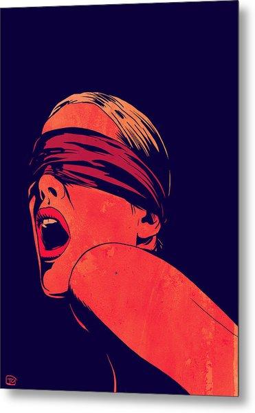 Blindfolded Metal Print