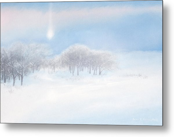 Blizzard Coming Metal Print