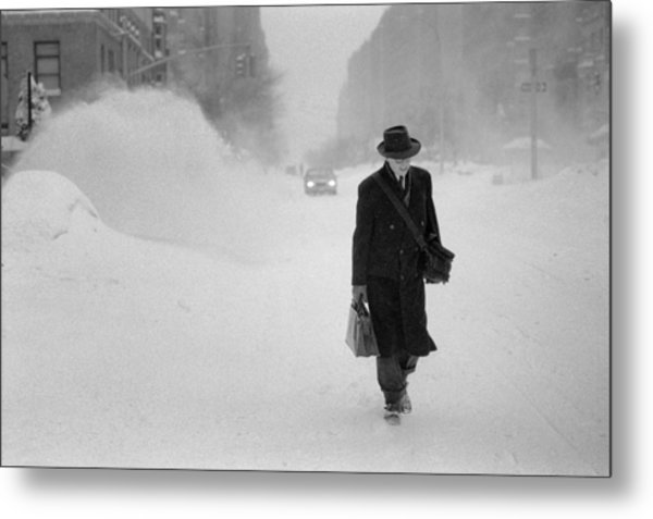 Blizzard On Park Avenue Metal Print