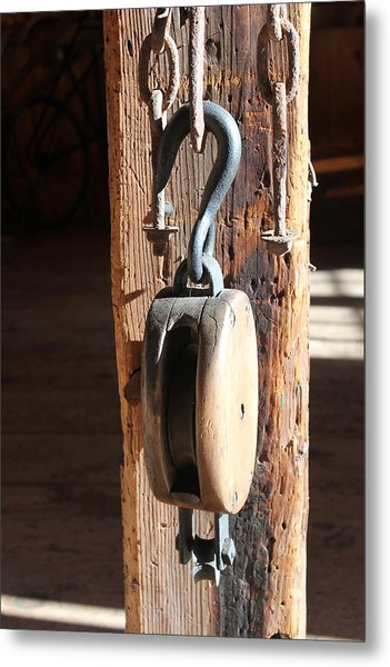 Block And Tackle 3 Metal Print by Mary Bedy