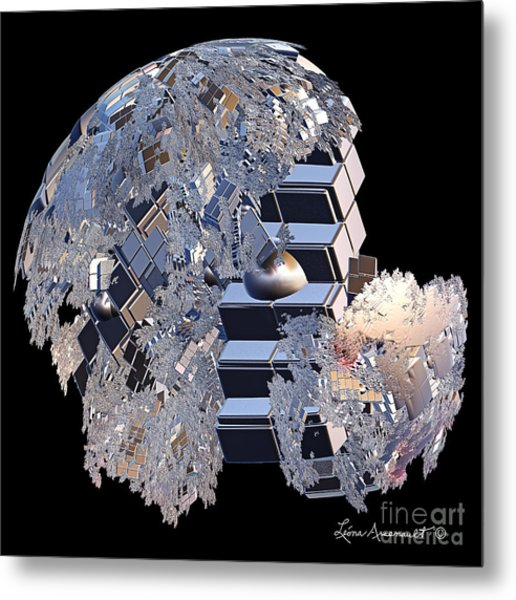 Blockhead Metal Print by Leona Arsenault