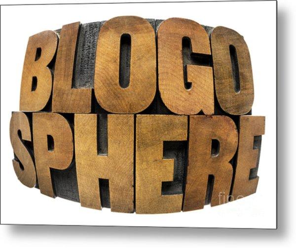 Blogosphere  Metal Print