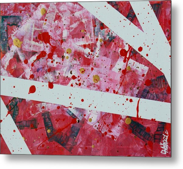 Blood On The Leaves Metal Print