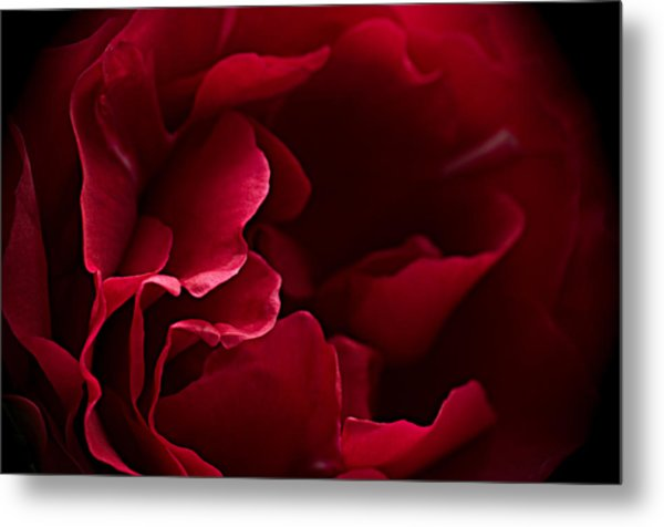 Blood Red Metal Print
