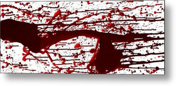 Blood Spatter Series Metal Print