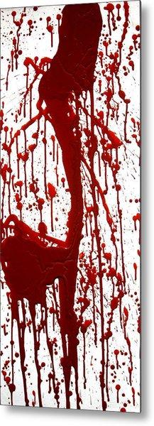Blood Splatter II Metal Print