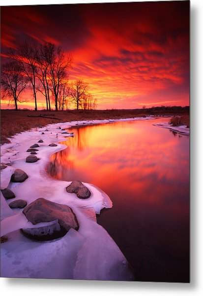 Blood Sunset Metal Print