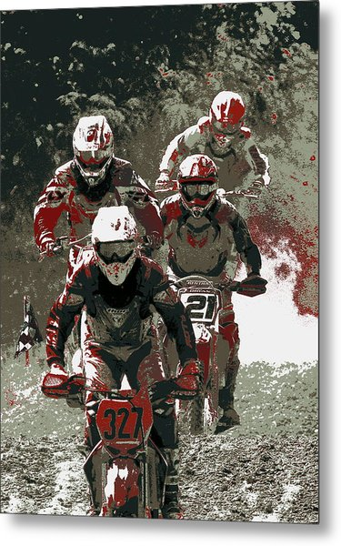 Blood Sweat And Dirt Metal Print