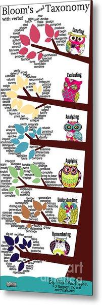Bloom's Taxonomy With Verbs Metal Print